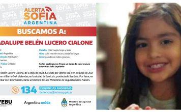 """ACTIVARON EL """"ALERTA SOFIA"""" POR LA DESAPARICION DE GUADALUPE"""